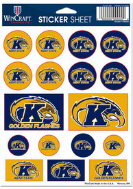 Kent State Golden Flashes Sheet of Team Logo Stickers