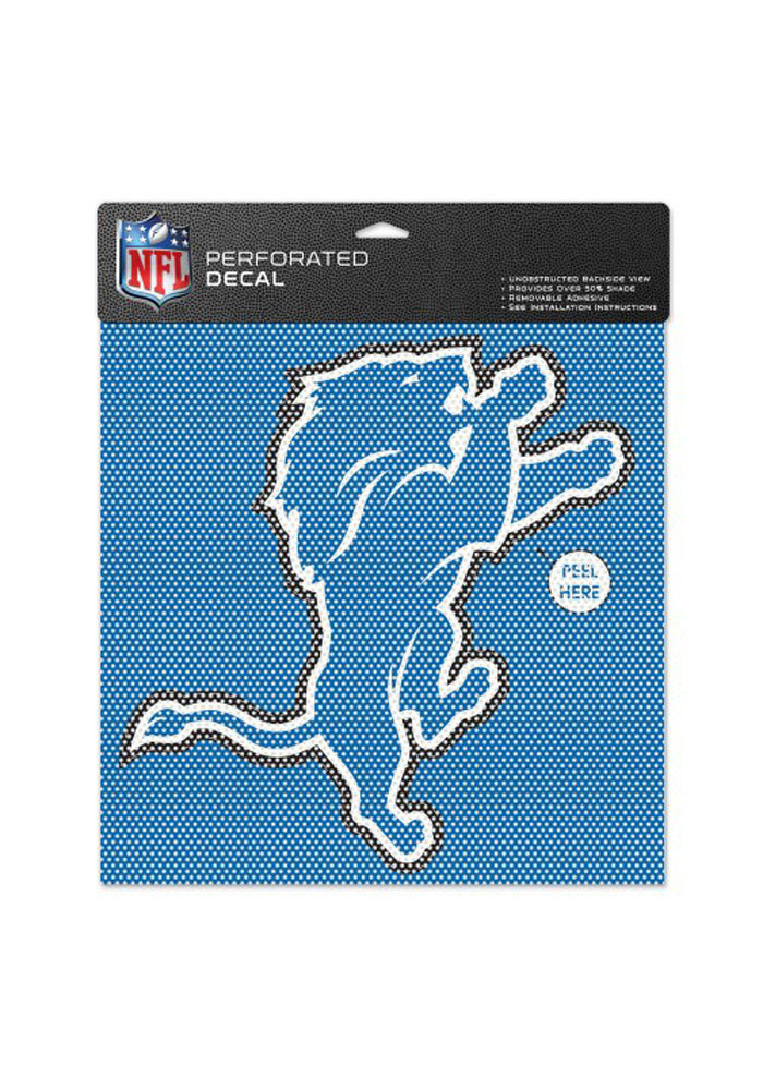 Detroit Lions 12x12 Perforated Decal - Image 1