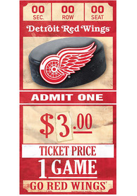 Detroit Red Wings 6x12 Ticket Wood Sign