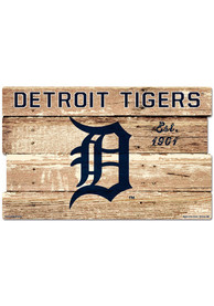 Detroit Tigers 19x30 Wood Plank Sign