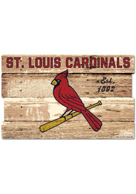 St Louis Cardinals 19x30 Wood Plank Sign