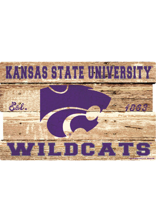 K-State Wildcats 19x30 Wood Plank Sign