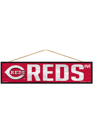 Cincinnati Reds 4x17 Avenue Wood Sign