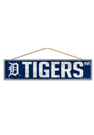 Detroit Tigers 4x17 Avenue Wood Sign