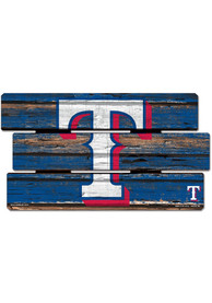 Texas Rangers 14x25 Painted Fence Wood Sign