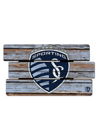 Sporting Kansas City 14x25 Painted Fence Wood Sign