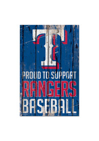 Texas Rangers 11x17 Proud Supporter Sign