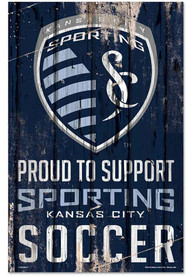 Sporting Kansas City 11x17 Proud Supporter Sign