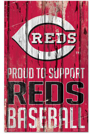 Cincinnati Reds 11x17 Proud Supporter Sign