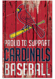 St Louis Cardinals 11x17 Proud Supporter Sign