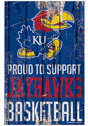 Kansas Jayhawks 11x17 Proud Supporter Sign