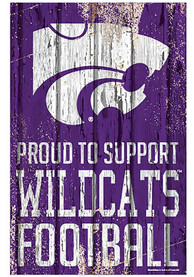 K-State Wildcats 11x17 Proud Supporter Sign