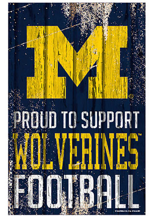 Michigan Wolverines 11x17 Proud Supporter Sign