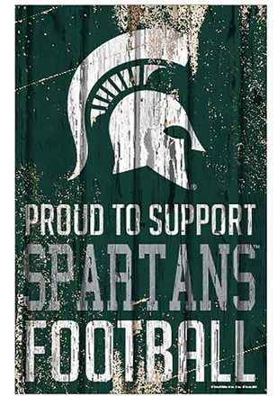 Michigan State Spartans 11x17 Proud Supporter Sign