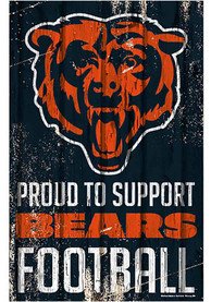 Chicago Bears 11x17 Proud Supporter Sign