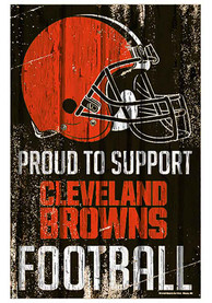 Cleveland Browns 11x17 Proud Supporter Sign