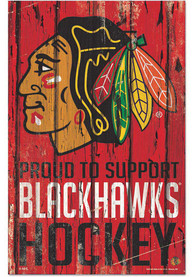 Chicago Blackhawks 11x17 Proud Supporter Sign