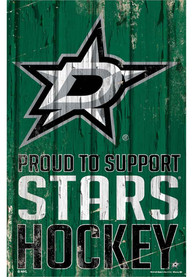 Dallas Stars 11x17 Proud Supporter Sign