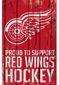 Detroit Red Wings 11x17 Proud Supporter Sign
