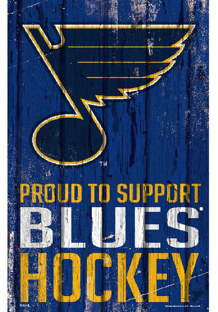 St Louis Blues 11x17 Proud Supporter Sign - Image 1