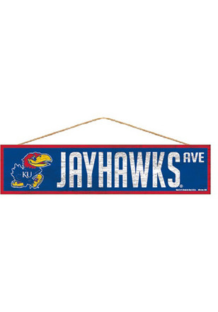 Kansas Jayhawks 4x17 Avenue Sign