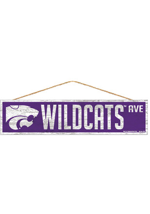 K-State Wildcats 4x17 Avenue Wood Sign