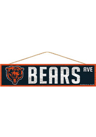 Chicago Bears 4x17 Avenue Wood Sign