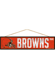 Cleveland Browns 4x17 Avenue Wood Sign