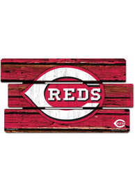 Cincinnati Reds 14x25 Painted Fence Wood Sign