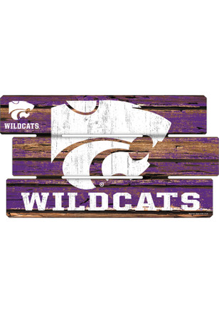 K-State Wildcats 14x25 Painted Fence Wood Sign