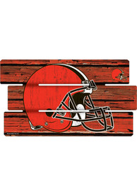 Cleveland Browns 14x25 Painted Fence Wood Sign