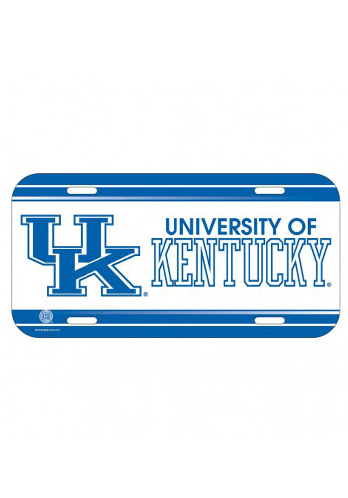 Kentucky Wildcats Plastic Car Accessory License Plate - Image 1