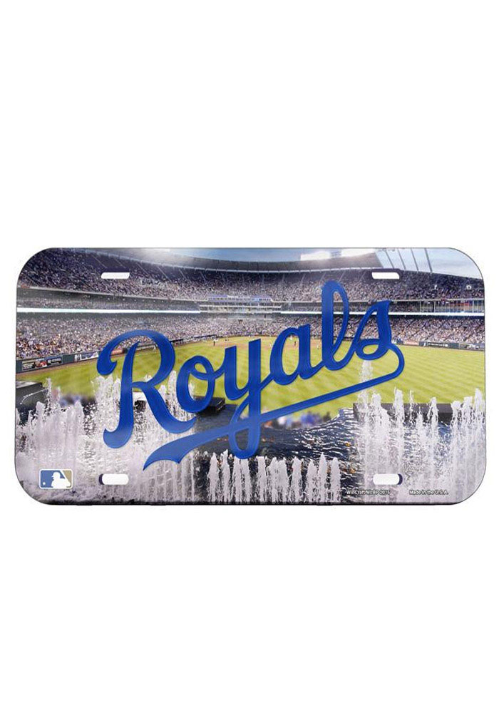 Kansas City Royals Stadium Crystal Mirror Car Accessory License Plate - Image 1