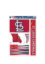St Louis Cardinals 11x17 Multi Use Sheet Auto Decal - Red