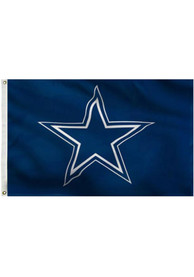 Dallas Cowboys 3x5 Deluxe Grommet Blue Silk Screen Grommet Flag