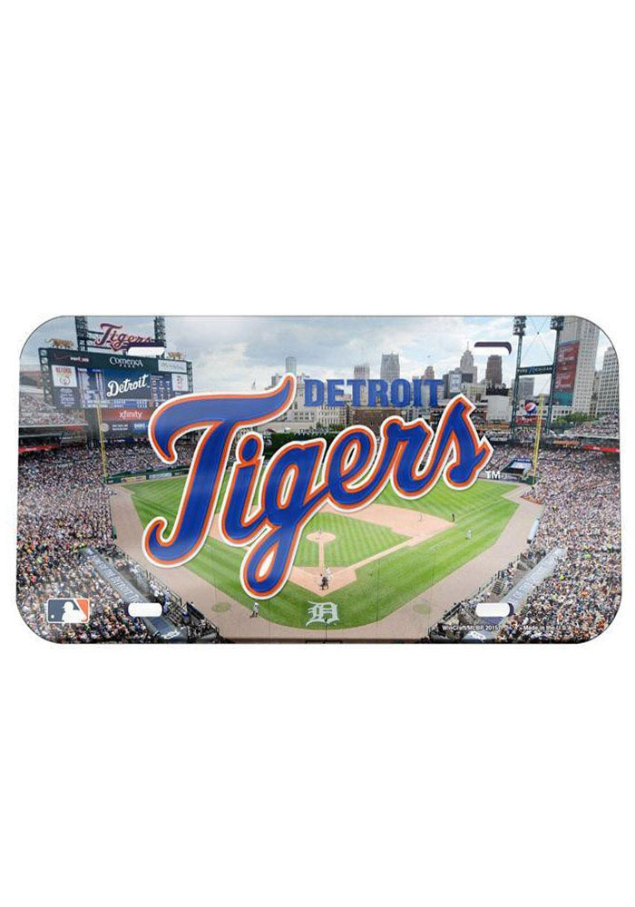 Detroit Tigers Stadium Crystal Mirror Car Accessory License Plate - Image 1