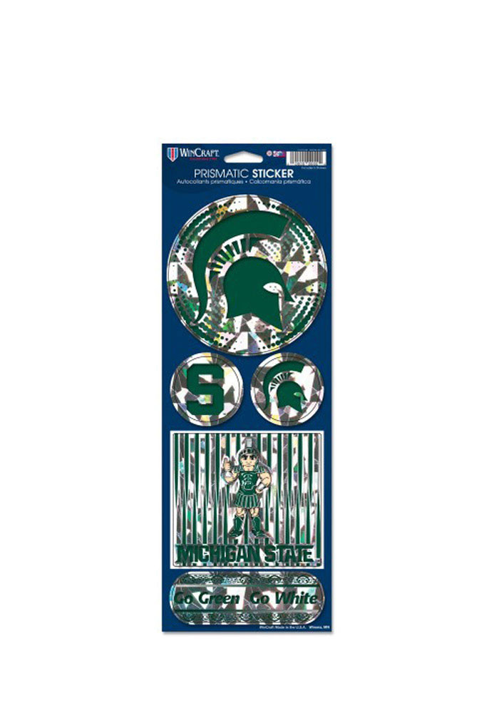 Michigan State Spartans Prismatic Stickers - Image 1