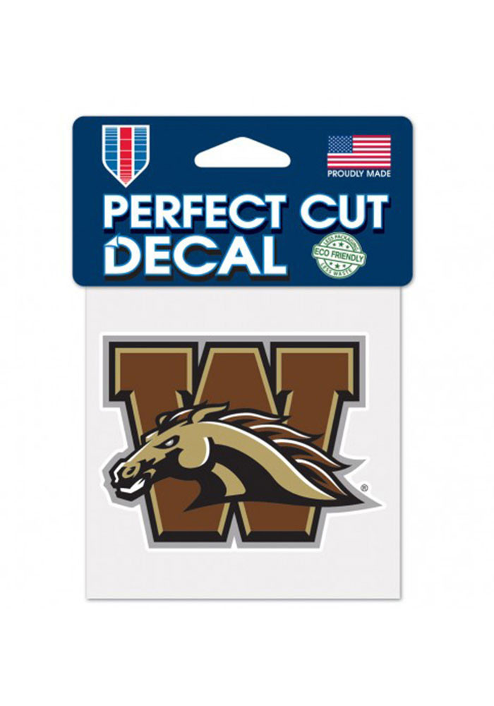 Western Michigan Broncos 4x4 Perfect Cut Decal - Image 1