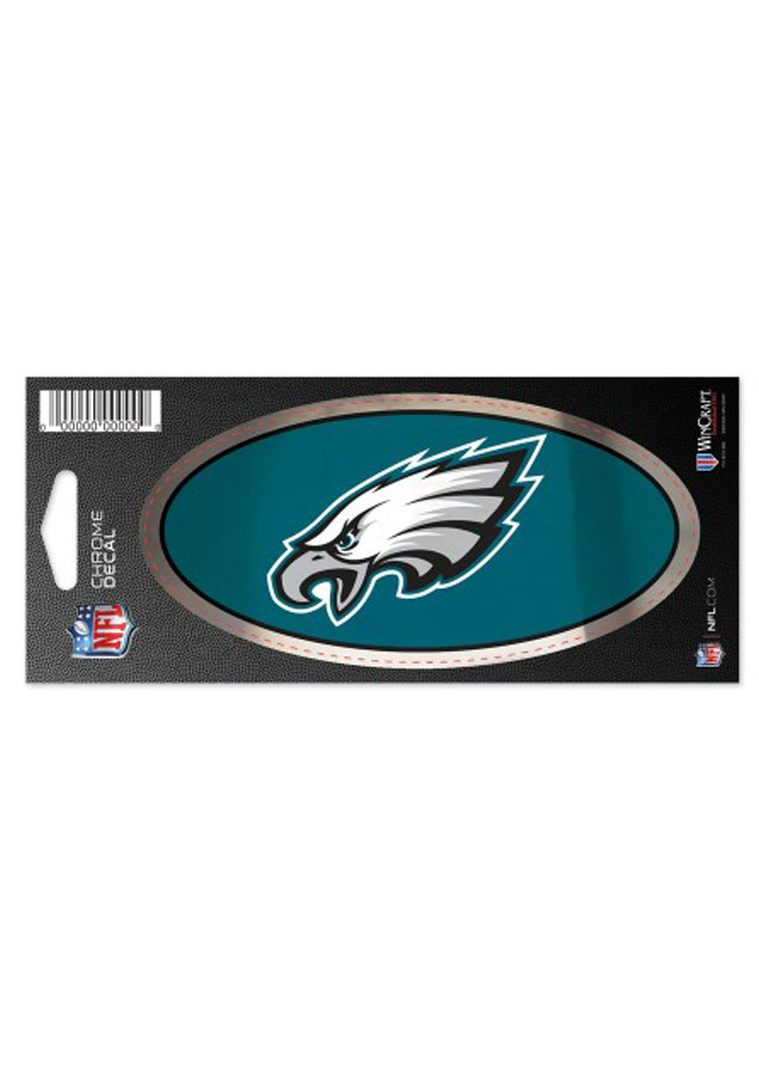 Philadelphia Eagles Chrome Stickers - Image 1
