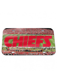 Kansas City Chiefs Crystal Mirror Stadium Car Accessory License Plate