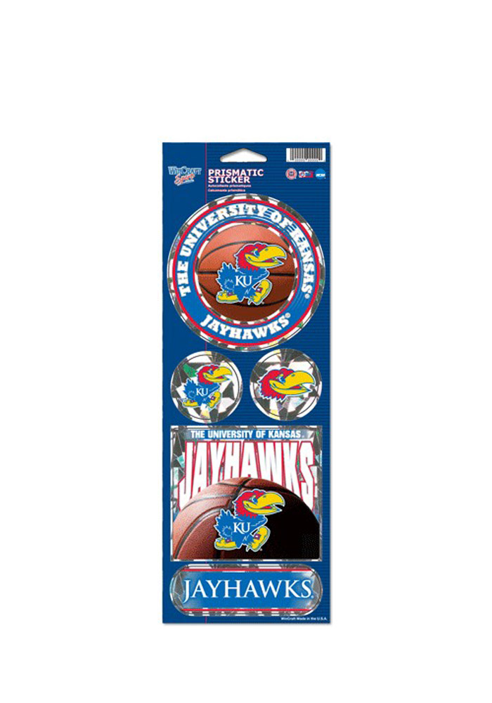 Kansas Jayhawks Prismatic Stickers - Image 1