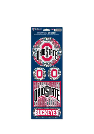 Ohio State Buckeyes Prismatic Stickers