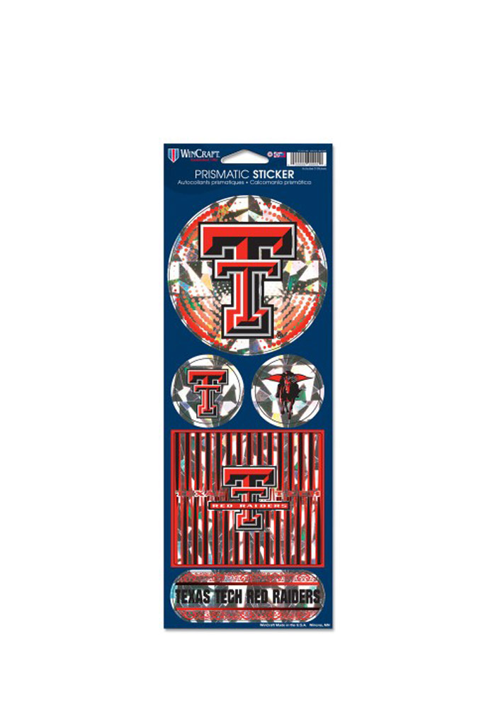 Texas Tech Red Raiders Prismatic Stickers - Image 1