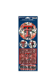 Texas Tech Red Raiders Prismatic Stickers