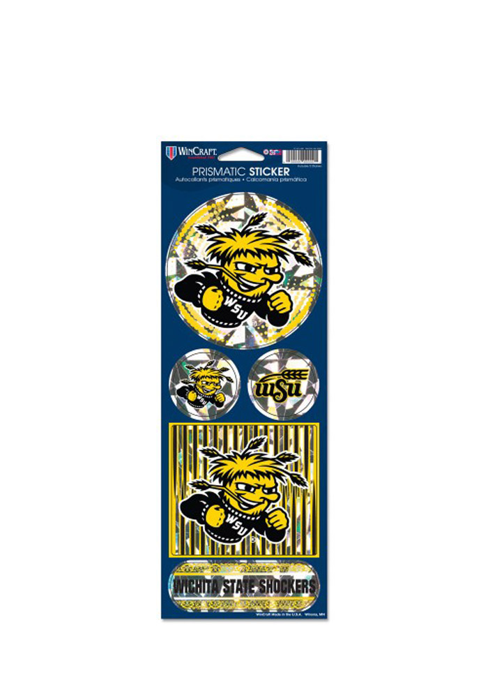 Wichita State Shockers Prismatic Stickers - Image 1