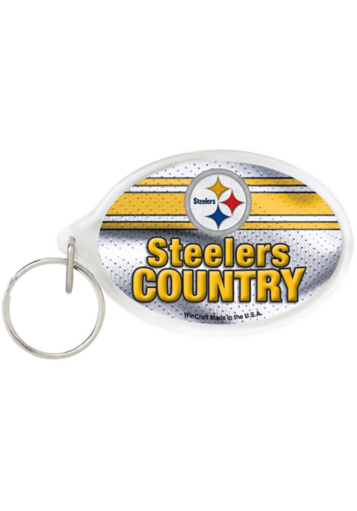 Pittsburgh Steelers Oval Keychain - Image 1