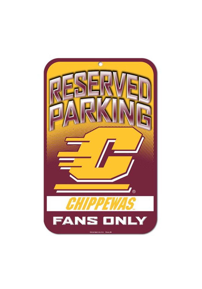 Central Michigan Chippewas Reserved Parking Sign - Image 1