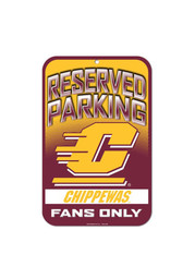 Central Michigan Chippewas Reserved Parking Sign