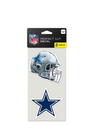 Dallas Cowboys 4x4 2 pack Auto Decal - Navy Blue