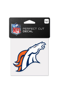 Denver Broncos 4x4 Auto Decal - White